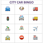 City Car Bingo