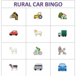 Rural Car Bingo